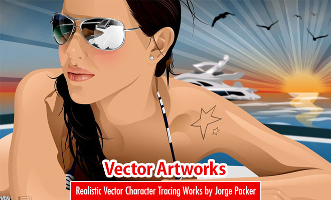 25 Stunning and Realistic Vector Character Tracing Works by Jorge Packer